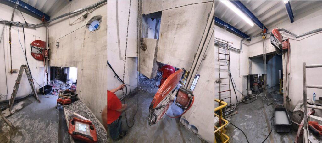 Cięcie betonu na wysokości